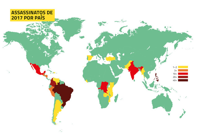Brasil lidera ranking de mortes de defensores da terra e do meio ambiente